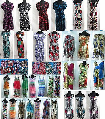 US SELLER-10 wholesale bulk lot retro dress resort wear casual women dresses