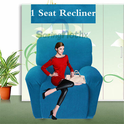 1 Seater Recliner Protector Stretch Sofa Chair Couch Cover Slipcover Wine AU New