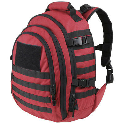Condor Tactical Emergency Backpack Mission Pack 30L Molle Hydration Rucksack Red