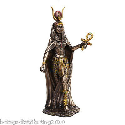 Hathor Figurine Ancient Egyptian Goddess Mother Love  Statue Bronze Like