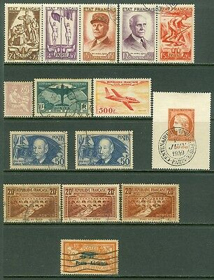 FRANCE : Grouping of Mint & Used. Some with just a tiny trace of tone speck.