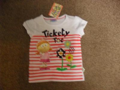 BNWT Tickety Toc girls short sleeved tshirt top 100% cotton