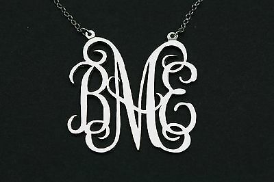 925 Sterling Silver Any Personalized Initial Monogram Name Necklace