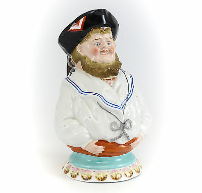 Figural Sailor Toby Jug / Pitcher English, 19th Century Marked '14' on base.
