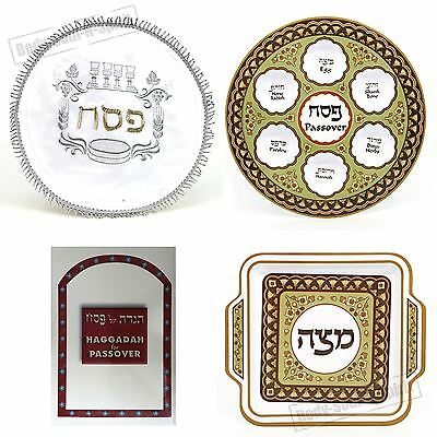 PASSOVER set for Seder: MATZAH cover & Plate & Haggadah booklet Israel Pesach