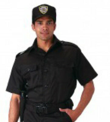 Short Sleeve Tactical Military Police Security Guard Officer Black Uniform Shirt