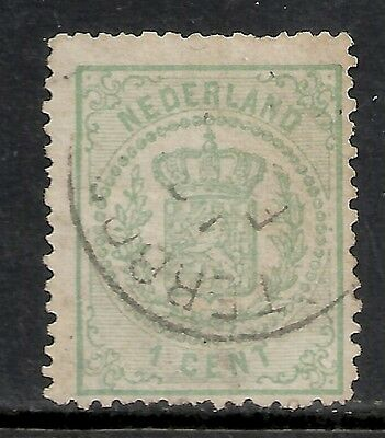 Netherlands 1869 NVPH 15P Plate Error without dot  CANC  F