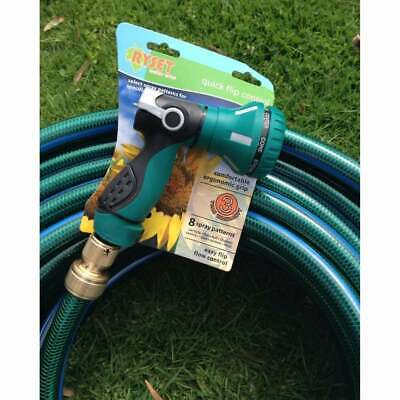 Garden Water Hose 12 - 18MM Brass Fittings 50M Pattern Pistol Gun 8/10 Kink Free