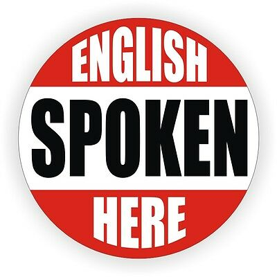 English Spoken Here Hard Hat Decal Helmet Sticker Label Sarcastic Toolbox Funny