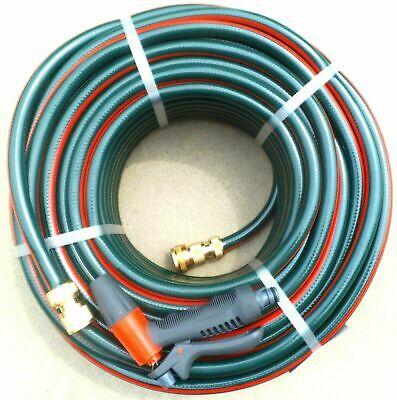 GARDEN HOSE PIPE LAWN WATERING 12mm x 30m AUSTRALIAN BRASS FITTED CONNECTORS TAP
