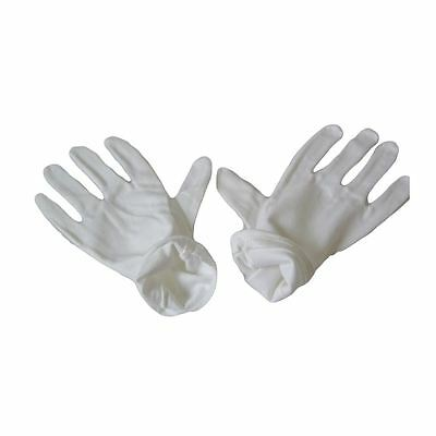 Kaavie High Density 100% Pure White Cotton Gloves (Men's Large - 2 Pairs)