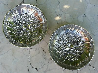 S. Kirk & Son's Sterling Silver Floral Repousse Basket Dish C.1903, Candy Dish