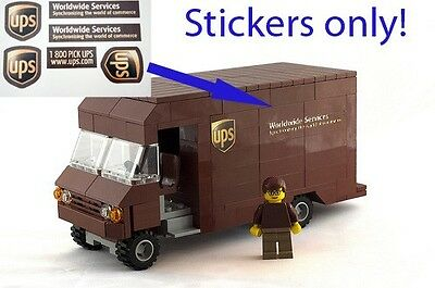 UPS Delivery Truck Stickers 4 LEGO 1552 1831 60020 7848 60016 4432 7733 Fedex