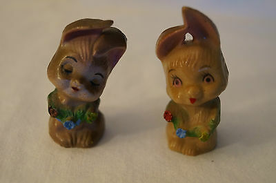 Collectable - Cute Animal Figurines - Shy Bunny Rabbits.