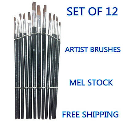 New Artist Art Paint Brushes Set/Kit For Watercolour Oil Painting Paints Craft