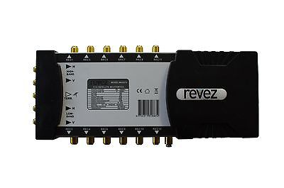 5x12 Revez Pro Series Satellite & Terrestrial Multiswitch Gold Connectors