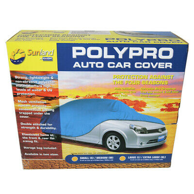 Polypro Car Cover Small / Medium Weatherproof Dust Cover S / M CC11