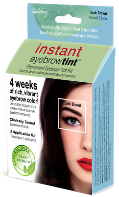 Godefroy instant eyebrow tint kit 6-weeks of rich vibrant color Dark Brown