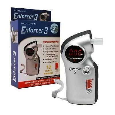 Alcolimit Enforcer3 3 Decimal Digital Alcohol Breath Tester Breathalyser Alco008