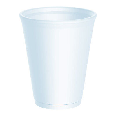 Dart 12oz Insulated Polystyrene Foam Poly Cups 2 x 1000 (2000 Cups) - UKB411