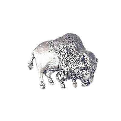 Buffalo Finely Handcrafted in Solid Pewter In The UK Lapel Pin Badge