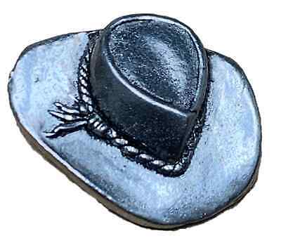 Stetson Cowboy Hat Finely Handcrafted in Solid Pewter In UK Lapel Pin Badge