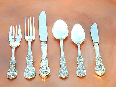 Perfect Reed Barton Francis I 1st Sterling Silver 6 PC Place Setting 1940-