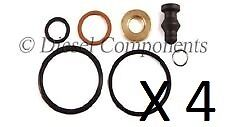 4 x PDE Injector Seal Repair Kit for Bosch Injectors in Audi VW Seat Skoda