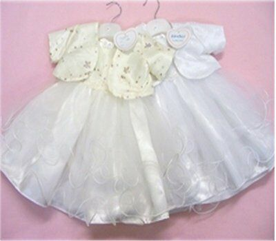 Christening /Baptism Dress with sequin top and Bolero (SALE LAST ONE)
