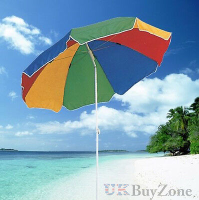 NEW Garden Beach Patio Tilting Tilt Umbrella Parasol Sun Shade Protection UPF40