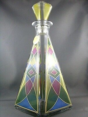 RARE Vintage ITALIAN VENETIAN PYRAMID Decanter Bottle BAR COLLECTABLE- Australia