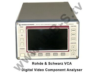 Rohde & Schwarz -  VCA Digital Video Component Analyser