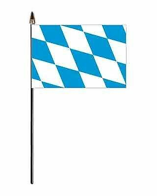 Bavaria Germany Hand Flag - small