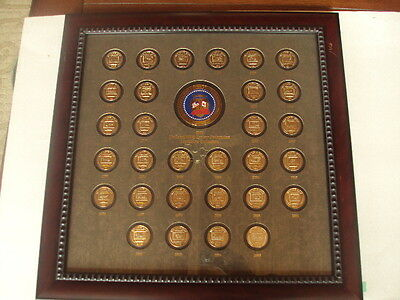 "1976-2005 National Wild Turkey Federation Medallion Collection Framed 23"" X 23"""