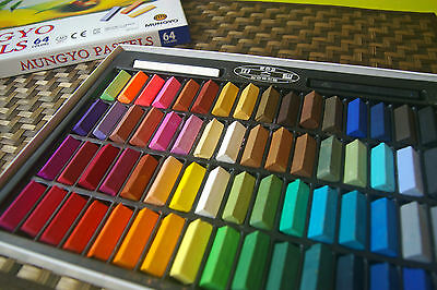 Square Chalk Pastel 24/32/48/64 Colors Set Half Sticks Soft Drawing Crayons