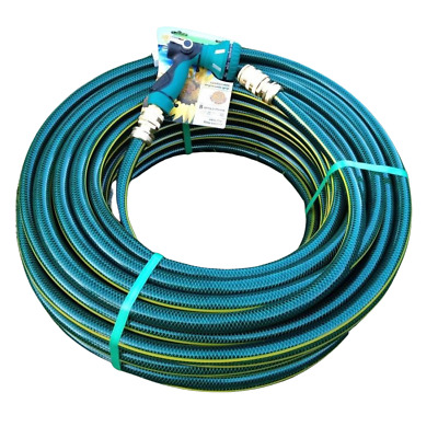 30M 18MM Premium Garden Watering Hose With 18MM Brass Fittings & Pattern Pistol