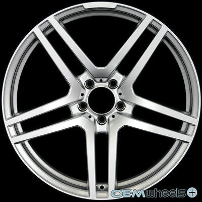 """20"""" HYPER SILVER WHEELS FITS MERCEDES BENZ AMG CLS E S SL WAGON STAGGERED RIMS"""