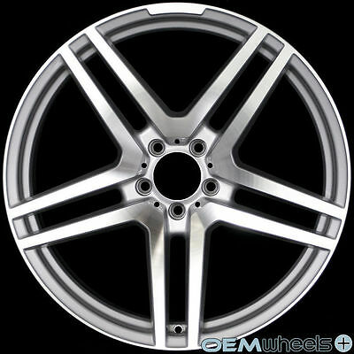 """20"""" SILVER MACHINE WHEELS FITS MERCEDES BENZ AMG CLS E S SL WAGON STAGGERED RIMS"""