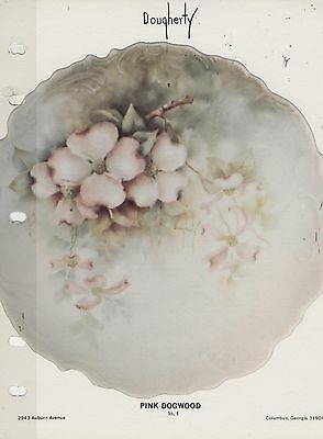 #4 Pink Dogwood China Painting Study by Mary Dougherty 1976