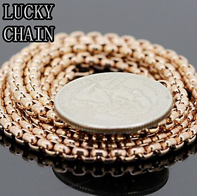 """30/""""x 2mm STAINLESS STEEL GOLD ROUND BOX CHAIN NECKLACE 20g//C105"""