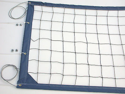 Home Court Volleyball Net Aircraft Cable Top and Bottom - CNCB