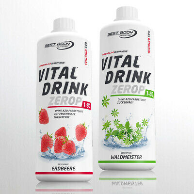 10,00€ /Ltr.) Best Body Low Carb Vital Drink 2 x 1 Ltr. Mineraldrink  ANGEBOT !!