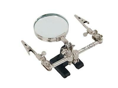 Third Helping Hands Free Magnifier Magnifying Glass Clamp for Soldering Iron 2D