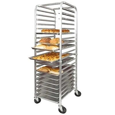 Winco 20-Tier Heavy Duty Aluminum Sheet Pan Rack With Casters NSF ALRK-20