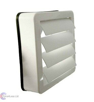 "5"" 125mm Window Extractor Fan Kit Gravity Grille Shutters ALL SIZES available"