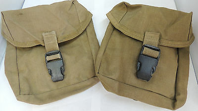 2 U.S.M.C. IFAK FIRST AID POUCH ..COYOTE..USED,PREPPER,OUTDOORSMAN