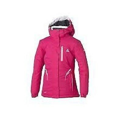 Girl's dare2b 'Pinpoint' Pink Ski Wear/Winter Waterproof and Breathable Jacket.