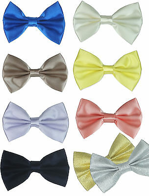 Uk Boys Elasticated Bow Tie Pageboy Wedding Prom Occasion
