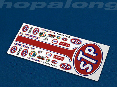 Scalextric/Slot Car 1/32 'STP Alfa' Waterslide Decals. ns033