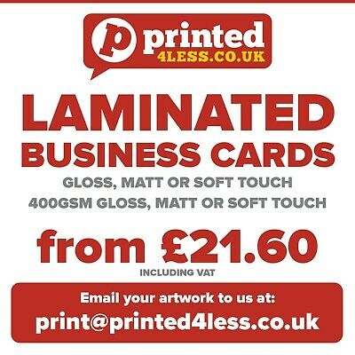 Laminated Business Cards Printed Full Colour Appointment Cards Gloss Matt Loyal